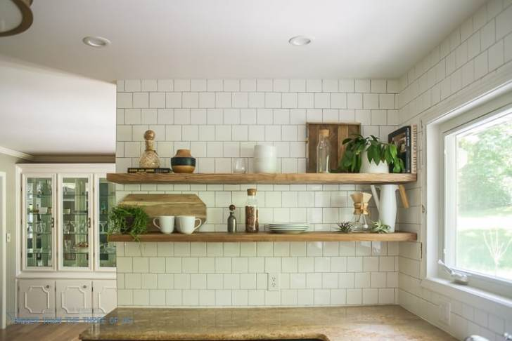 Install Heavy Duty Floating Shelves Kitchen Bigger