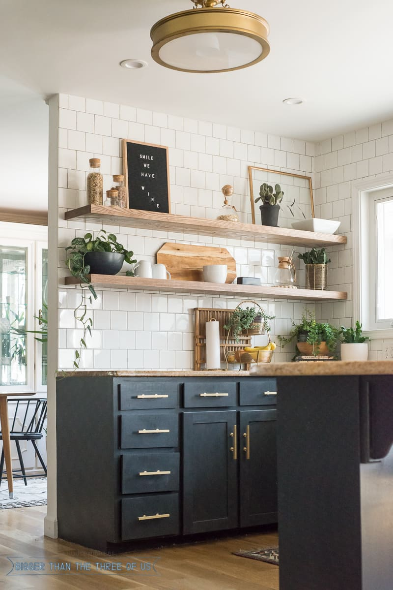 The Ugly Truths  How I Cut Corners with the Kitchen Shelving  Bigger Than the Three of Us