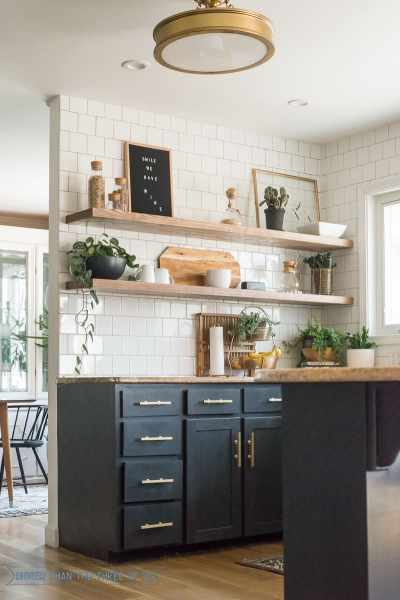 open shelving kitchen The Ugly Truths :: How I Cut Corners with the Kitchen