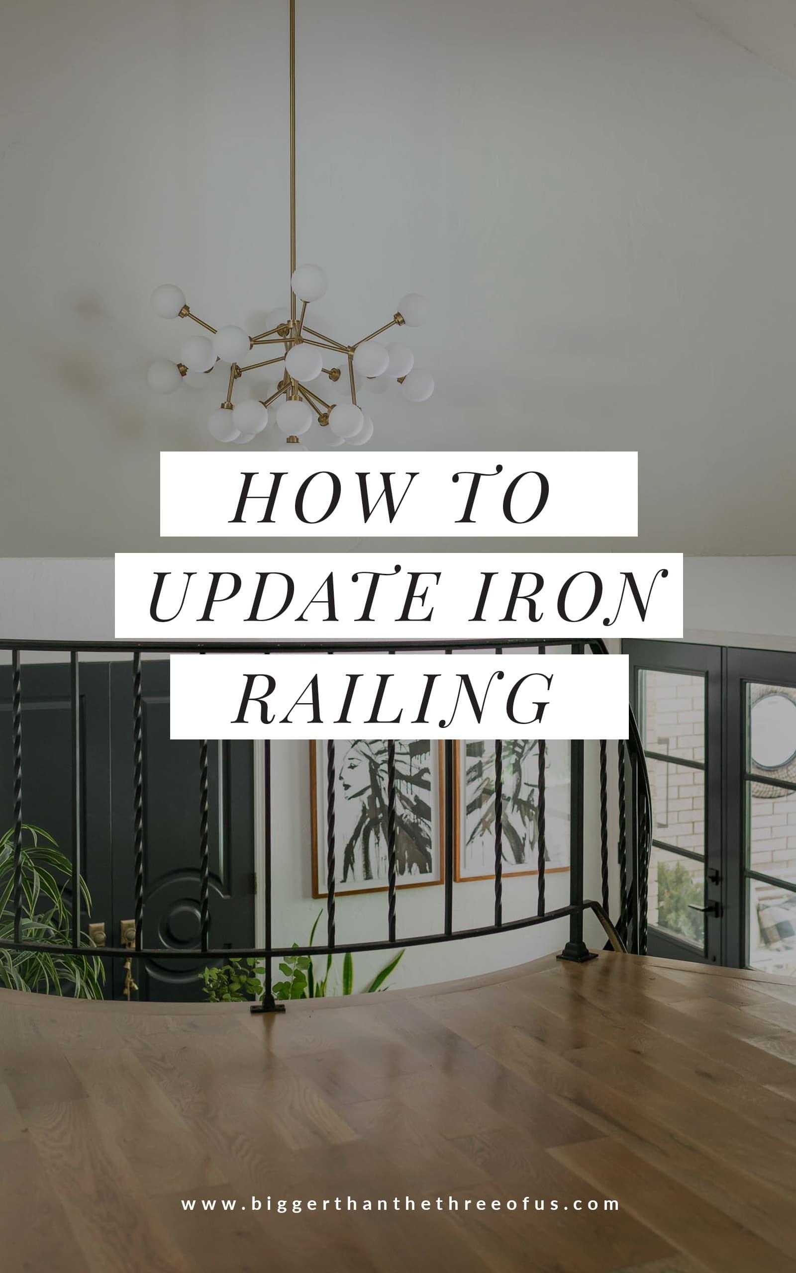 Stair Railing Idea Update Wrought Iron Handrails Bigger Than   Wrought Iron Railing Interior   Walnut Iron   Wood   Farmhouse   Country Style   Horizontal