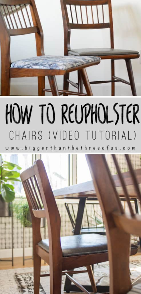 reupholster dining chairs cost of renting tables and for wedding video tutorial how to upholster bigger than the showing you recover your room