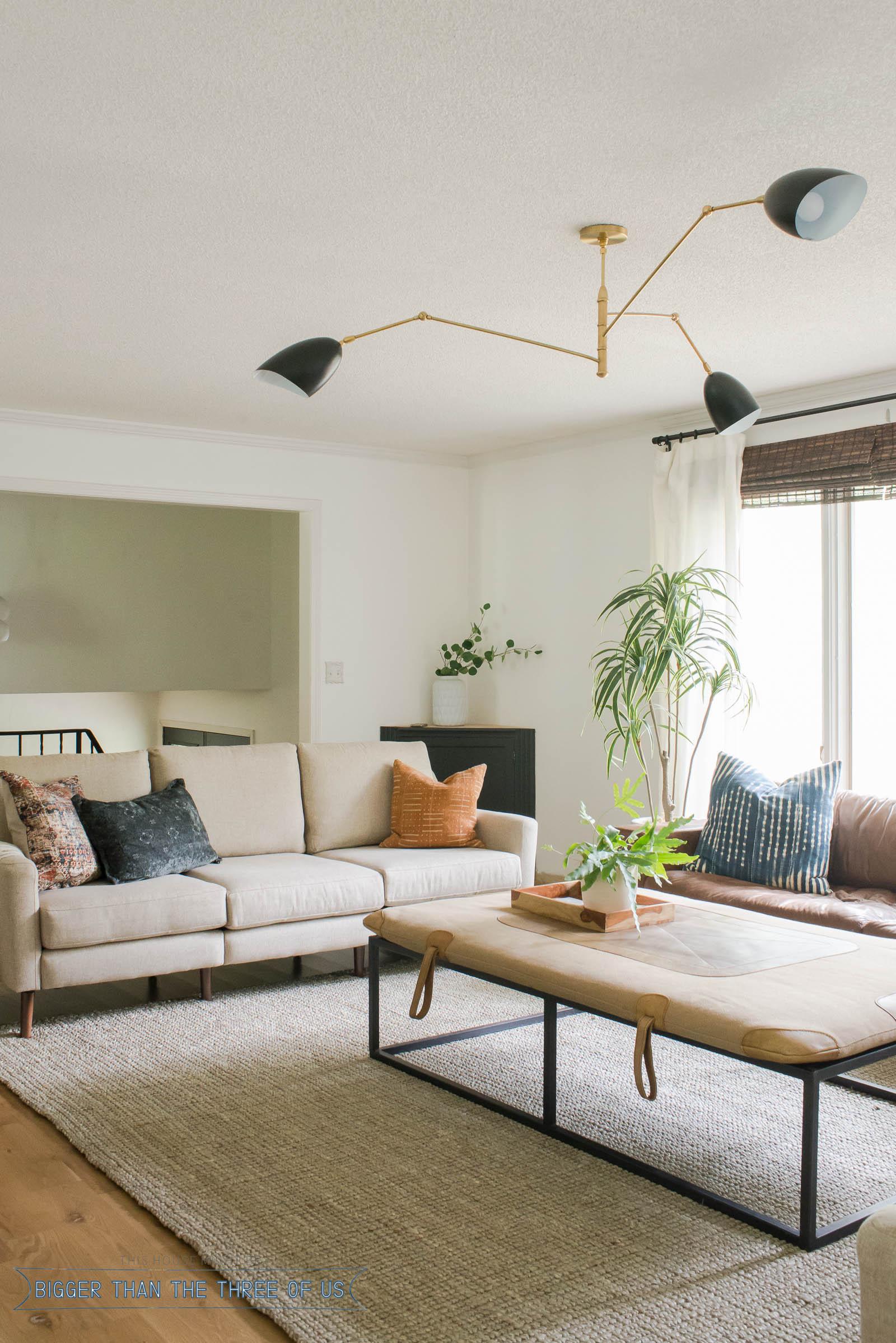 mid century modern living room lighting table vintage bigger than the three of us
