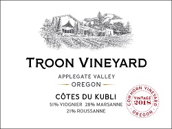Troon 2018 Cotes du Kubli White Fr