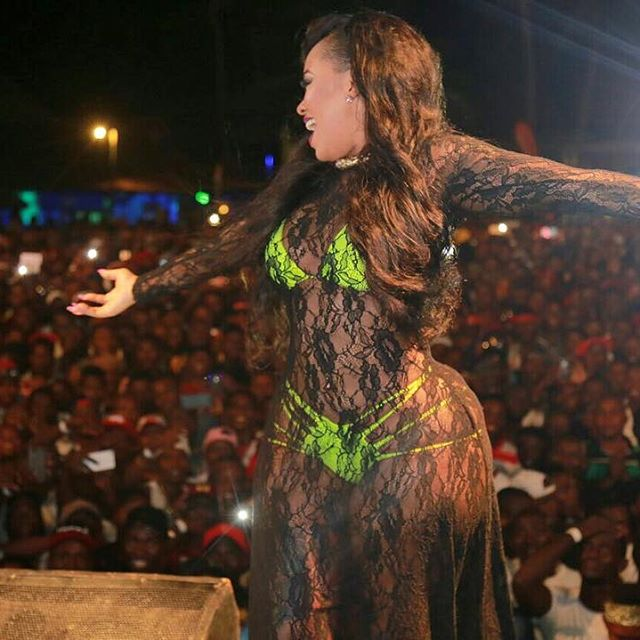 Vera Sidika at the Wasafi beach party | Instagram