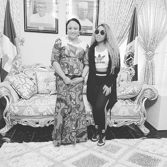 Victoria Kimani with first lady of Jos City Mrs. Rashida Bello | Instagram