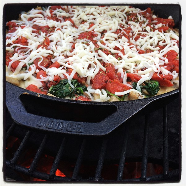 Cast Iron Deep Dish Pizza