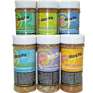 Dizzy-Pig-BBQ-Top-Six-Rubs-Seasoning-Spice-8-Ounce-Shaker-Bottles-6-Pack-0-e1485462197281