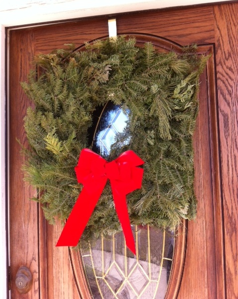 cropped wreath