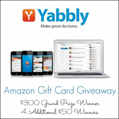 Yabbly Great Decisions (An Amazon Gift Card Giveaway!)