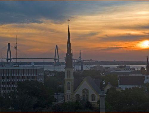 Sunrise over Marion Square -- Charleston (SC) July 11, 2012