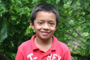 Javier, 8 years old, El Salvador, Future Firefighter