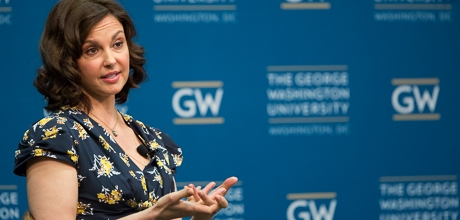 Ashley Judd discusses women's health issues at George Washington University.