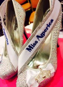 "Shoes designed by The Sash Company for Miss America 2014 Nina Davuluri to wear in the ""Show Us Your Shoes"" parade -- perfect image for the ""footnotes"" section, right?!"