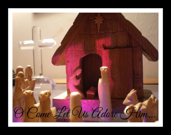 nativity with writing