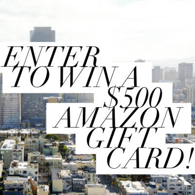 #Giveaway: $500 Amazon Gift Card or Cash!