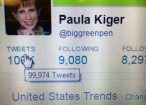 Ten Thoughts on 100,000 Tweets