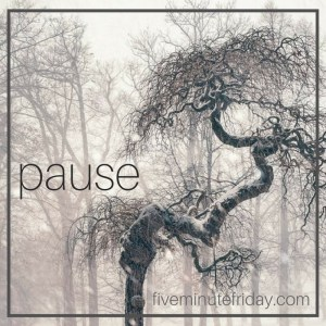 Five Minute Friday: PAUSE