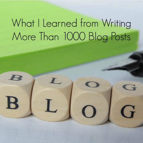 lessons from blogging
