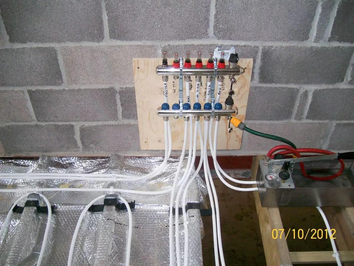hight resolution of underfloor heating installation