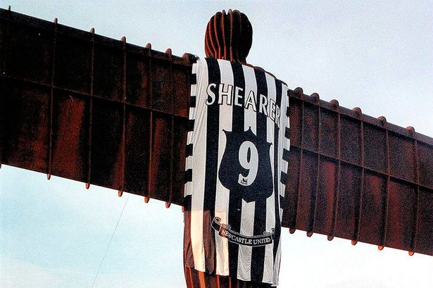 Angel of the North with Shearer shirt