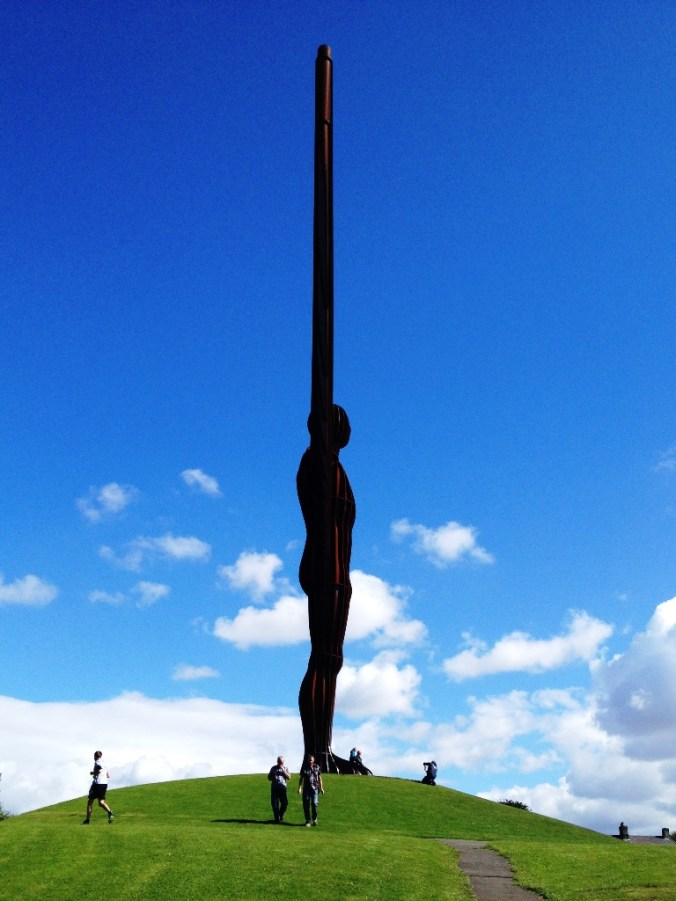 The Angel of the North side on