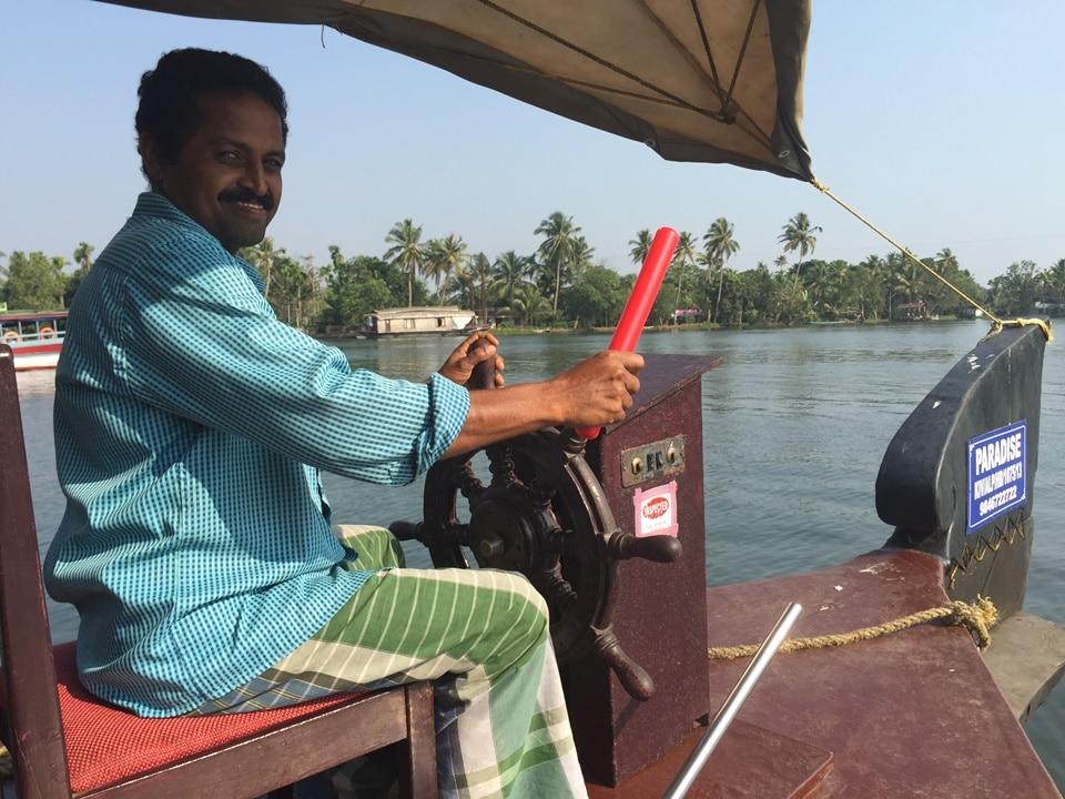 The Paradise Houseboat captain