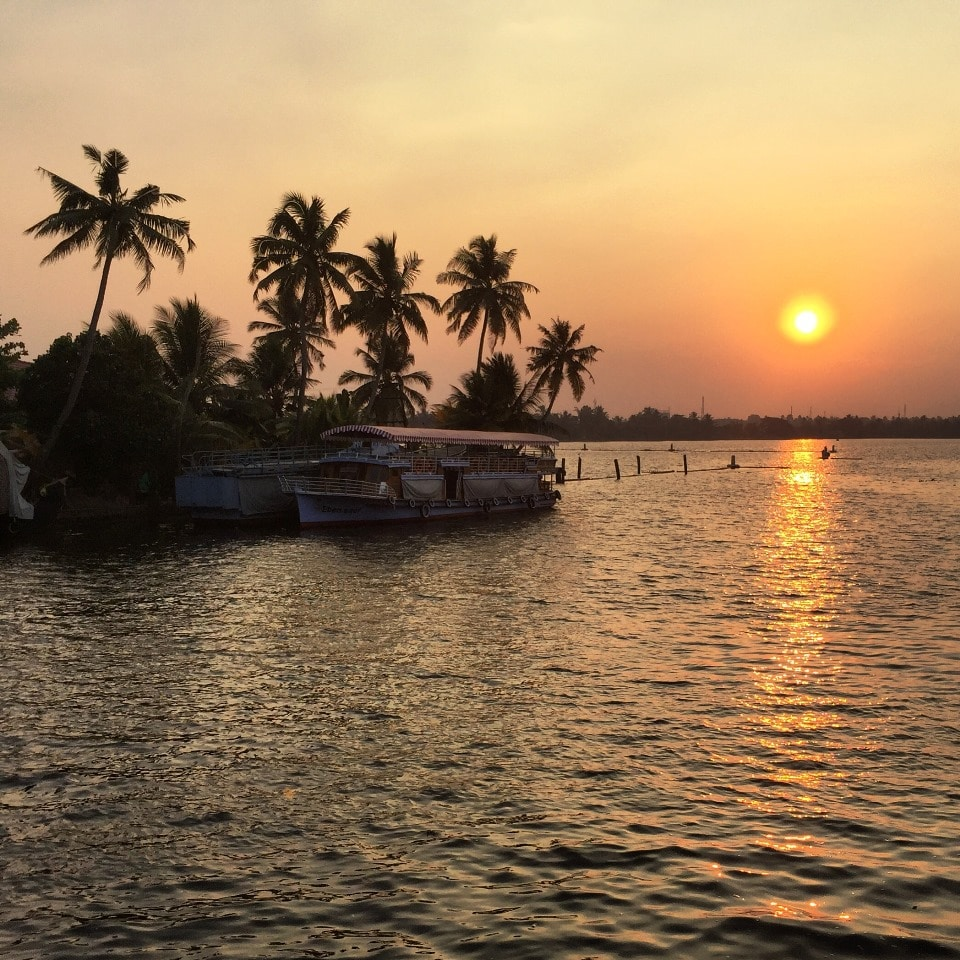 The Kerala Backwaters sunset
