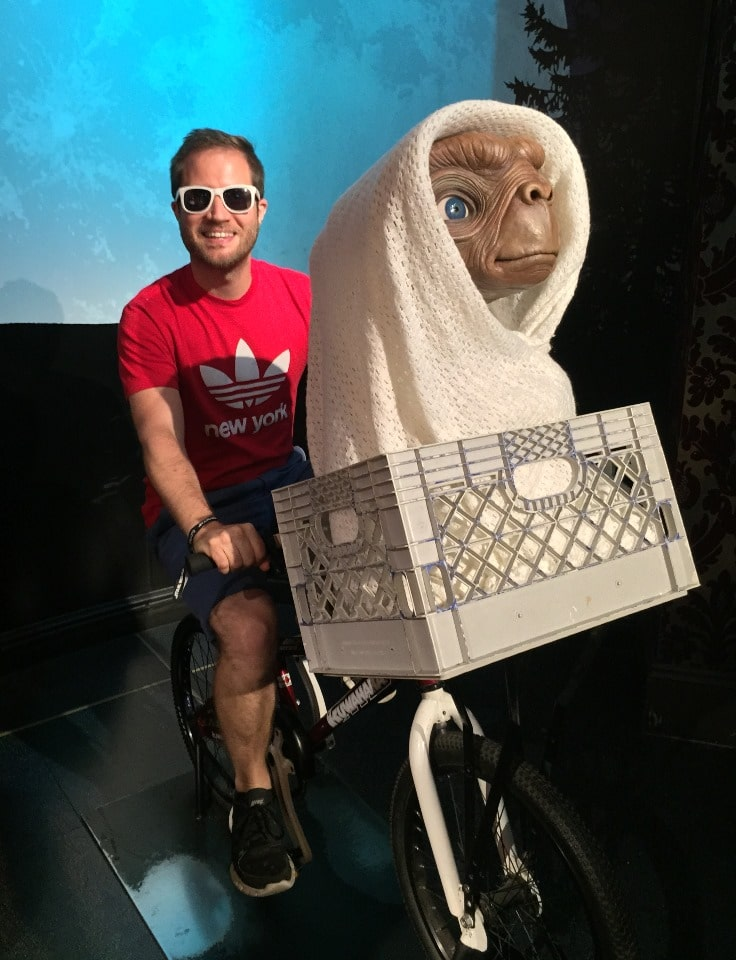 Taking ET for a spin in my BMX - Madame Tussauds London