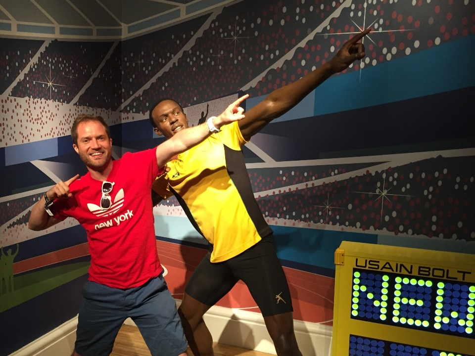 Usain Bolt striking a pose!