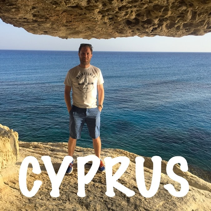Inside one of the sea caves near Ayia Napa, Cyprus