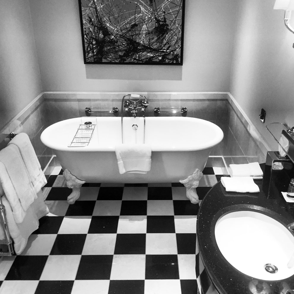 The Savoy junior suite bathroom