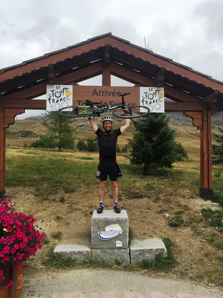 The podium 50m down from the real 'Tour de France' finish
