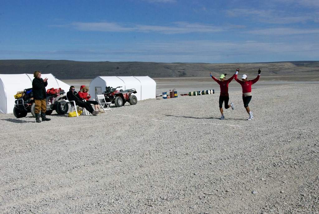 Runners finishing the Nunavut Marathon. Source: http://northwestpassage2011.blogspot.co.uk