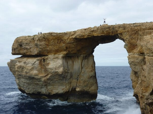 Places you can't visit anymore. Walking across the Azure Window in 2010