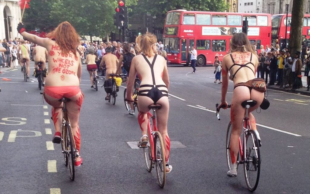 World Naked Bike Ride. Take part in London