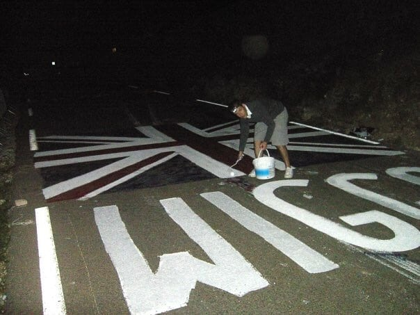 Painting the road at 1am in the morning