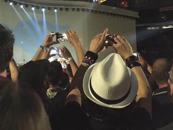 U2 concert view at Twickenham