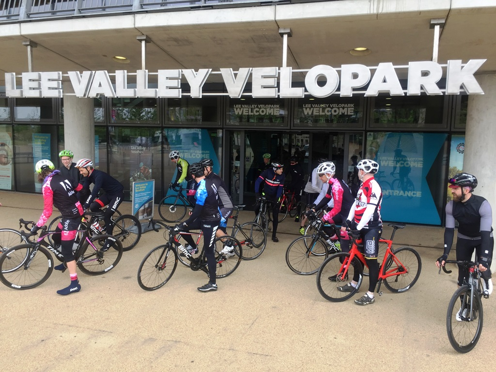 Leaving the Lee Valley velopark arfter quickly checking out the track