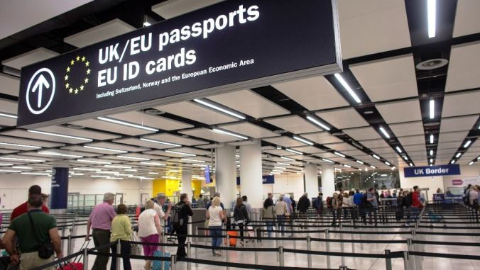 Luton Airport Passport Control but without my passport