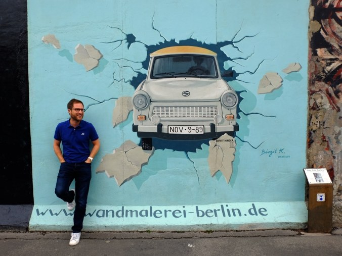 Berlin Wall East Side Gallery - Trabi! Birgit Kinder: Test the Rest