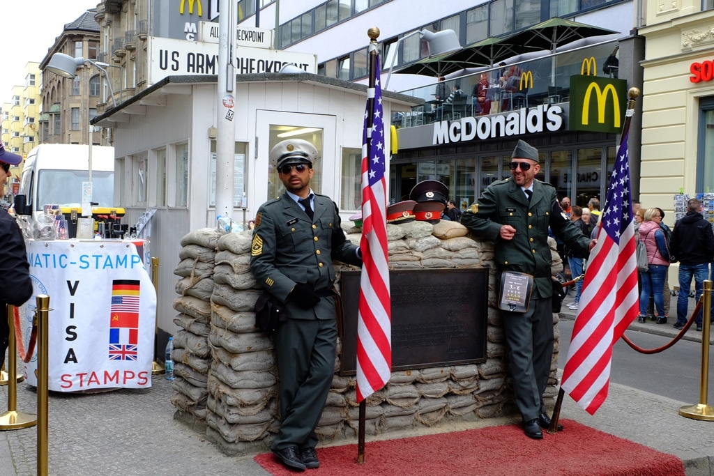 Either love it or hate it cheesiness at Checkpoint Charlie. I was the latter