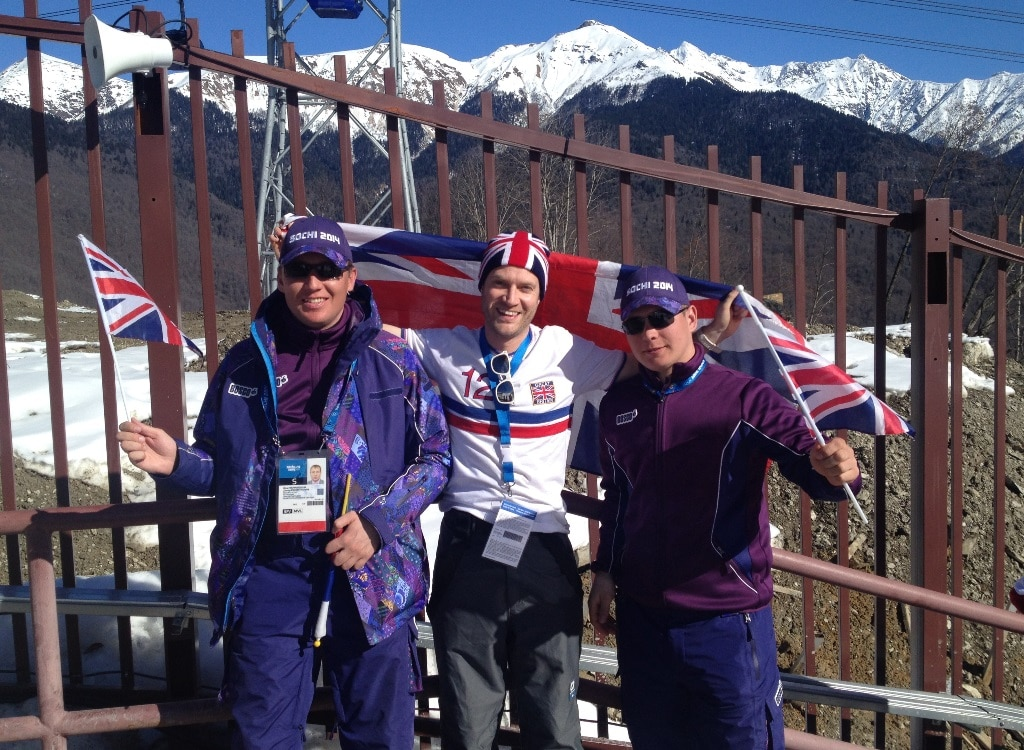 Meeting some security guards at the Winter Olympics mountain cluster