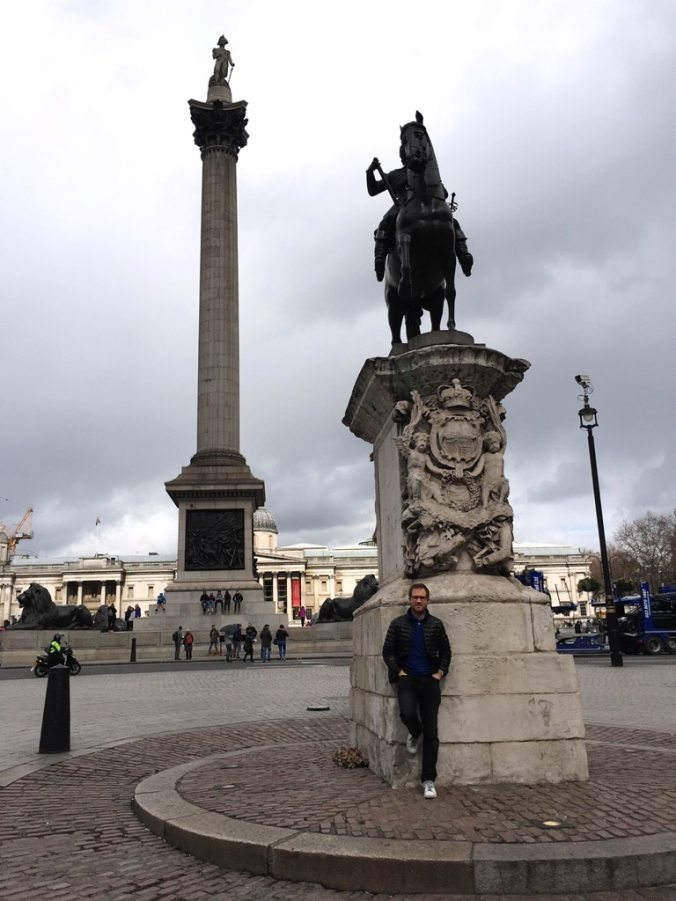 The most central person in London? Standing at the Charles 1 Statue