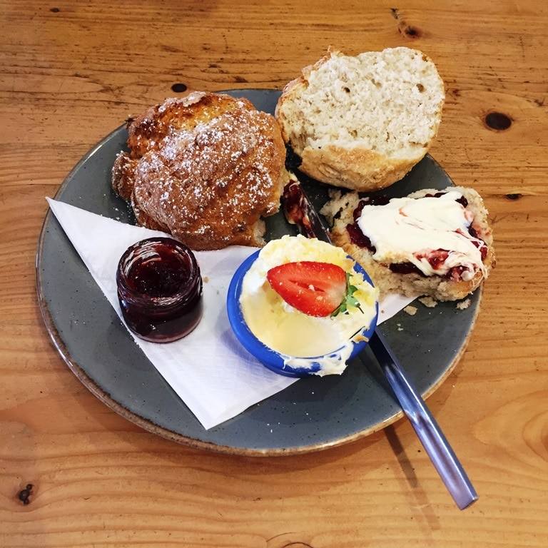 "My first Cornwall cream tea - jam first to follow the ""rules"""