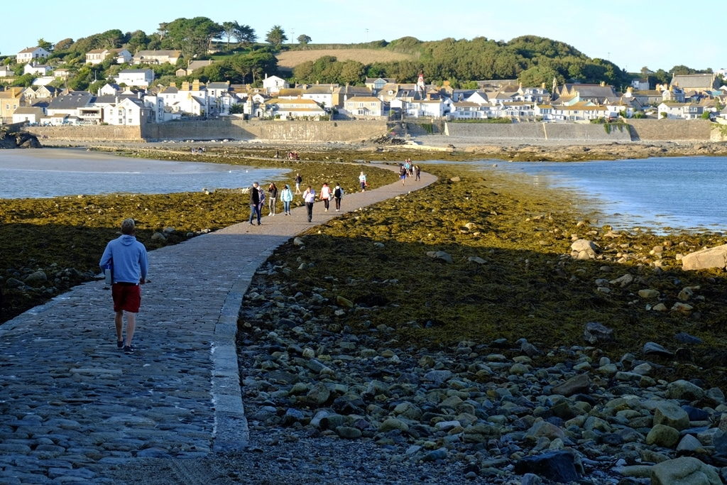 Returning back to the mainland from St Michael's Mount - 30 minutes after opening time