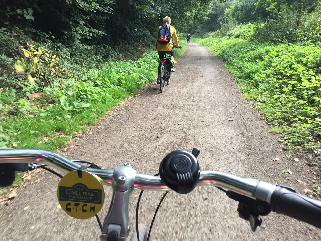 The forested Camel Trail to Bodmin with its lovely riding surface