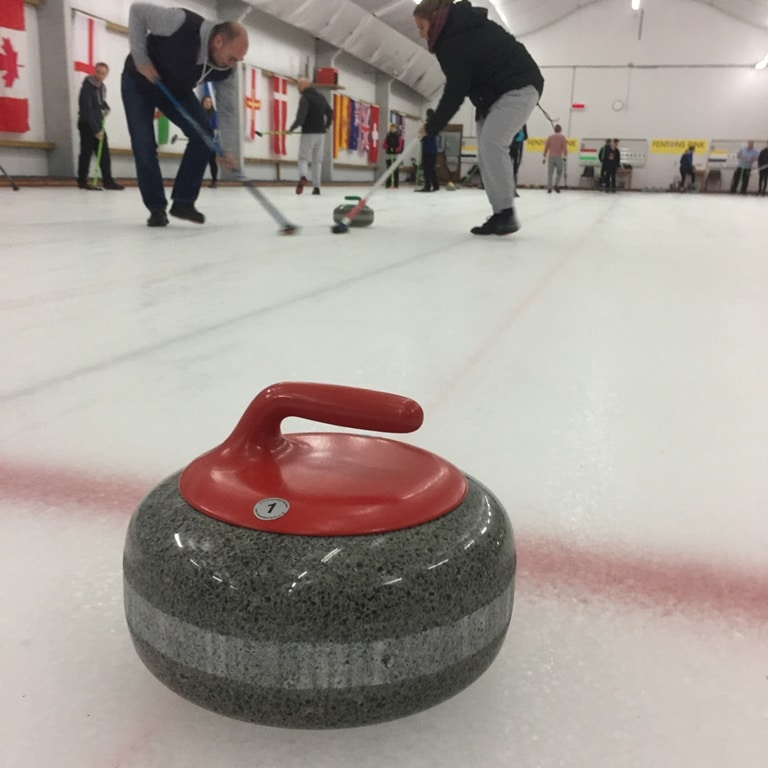 Sweeping the ice causes the stones to slide that little bit further