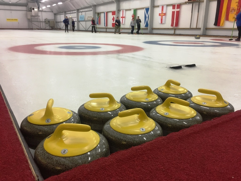 Chill out with a game of ice curling