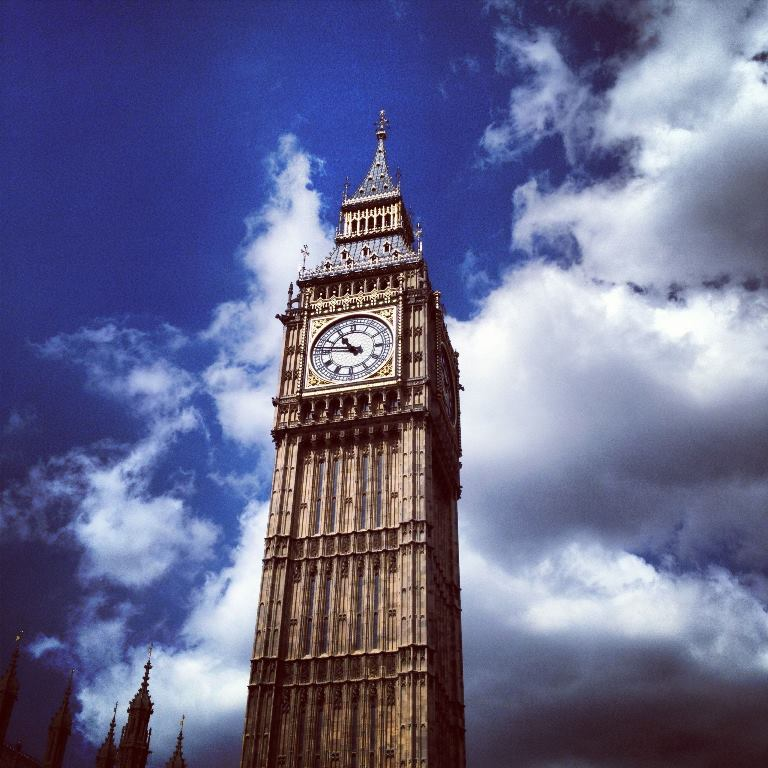 The Elizabeth Tower that holds Big Ben