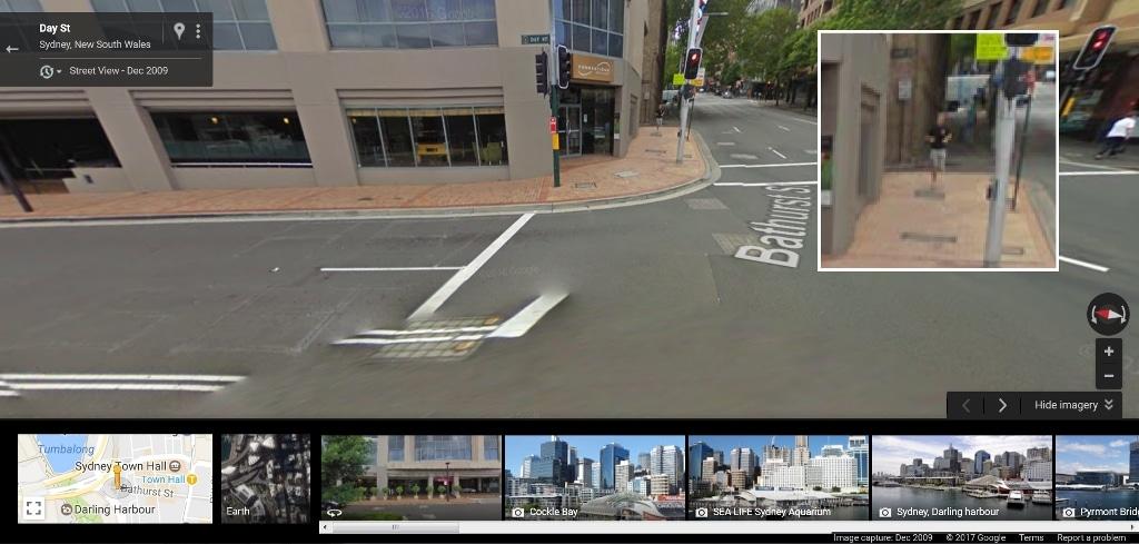 Running down Bathurst Street, Sydney